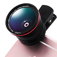 Lieqi lq-026 puhelinlinssi 0.42x kala-silmä linssi 10x makro alumiini clip-on matkapuhelin kameran linssit kit samsung android
