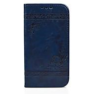 Недорогие Чехлы и кейсы для Galaxy S-Кейс для Назначение SSamsung Galaxy Бумажник для карт Кошелек со стендом Флип Рельефный Чехол С сердцем Твердый Кожа PU для S6 edge S6 S5