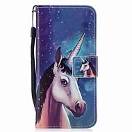 Кейс для Назначение SSamsung Galaxy S8 Plus S8 Кошелек Бумажник для карт Флип С узором Магнитный Чехол единорогом Твердый Искусственная