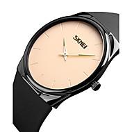 SKMEI Муж. Нарядные часы Модные часы Японский Кварцевый Защита от влаги PU Группа Cool Повседневная минималист Черный