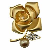 Жен. Броши Синтетический алмаз Искусственный жемчуг Цветочный дизайн Цветы Мода По заказу покупателя Классика Цветочный принт