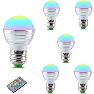olcso LED okos izzók-3 W 300 lm E27 Okos LED izzók A60(A19) 1 led Integrált LED Tompítható Dekoratív Távvezérlésű RGB AC85-265