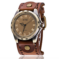 Męskie Unikalne Kreatywne Watch Na codzień Modny Zegarek na bransoletce Chiński Kwarcowy Skóra Pasmo Vintage Na co dzień Elegancki Czarny