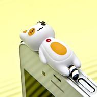 Anti-Staub-Stecker diy Katze Karikatur Spielzeug ABS 3.5mm diy für iphone 8 7 Samsung Galaxy S8 S7