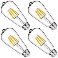 6W LED Filament Bulbs 6 leds COB Dimmable Decorative Warm White 580lm 2700K AC 110-130V