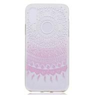 Назначение iPhone X iPhone 8 Чехлы панели Прозрачный С узором Задняя крышка Кейс для Мандала Кружева Печать Мягкий Термопластик для Apple