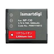 ismartdigi cnp130 3.7v 1800mah fotoğraf makinesi pili için np130 h30 h35 zr100 zr200 zr300