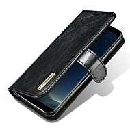 fodral Till Samsung Galaxy S8 Plus S8 Korthållare Lucka Magnet Heltäckande Ensfärgat Hårt Äkta läder för S8 S8 Plus S7 edge S7