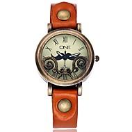 Mujer Reloj de Moda Reloj de Pulsera Reloj creativo único Chino Cuarzo Piel Banda Cosecha Bohemio Casual Elegantes Negro Azul Naranja