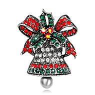 Недорогие Новогодние украшения-Броши - Серебрянное покрытие, Позолота Мода Брошь Золотой / Серебряный Назначение Рождество / Для вечеринок