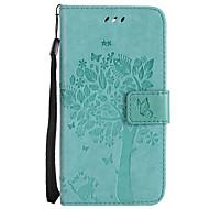 preiswerte Handyhüllen-Hülle Für LG G3 Mini / LG G3 / LG K8 Geldbeutel / Kreditkartenfächer / mit Halterung Ganzkörper-Gehäuse Katze / Baum Hart PU-Leder für LG X Power / LG V20 / LG V10 / LG G4 / LG K10