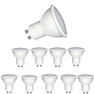 olcso LED szpotlámpák-10 db 6 W 600 lm GU10 LED szpotlámpák MR16 1 led COB Tompítható Dekoratív Meleg fehér Hideg fehér AC 220-240V