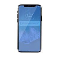 Недорогие Защитные плёнки для экрана iPhone-Защитная плёнка для экрана Apple для iPhone X Закаленное стекло 1 ед. Защитная пленка для экрана Против отпечатков пальцев Фильтр синего
