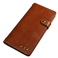Недорогие Чехлы и кейсы для Galaxy Note-Кейс для Назначение SSamsung Galaxy Note 8 Бумажник для карт Кошелек Флип Магнитный Чехол Сплошной цвет Твердый Настоящая кожа для Note 8