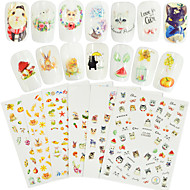 7 Nagelkunst sticker Patroon Accessoires Art Deco / Retro 3D Cartoon DHZ-benodigdheden Toebehoren Sticker make-up Cosmetische Nagelkunst