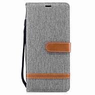 Недорогие Чехлы и кейсы для Galaxy Note-Кейс для Назначение SSamsung Galaxy Note 8 Бумажник для карт Кошелек со стендом Флип Магнитный Чехол Сплошной цвет Твердый текстильный для