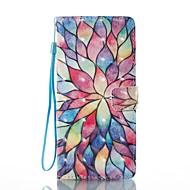 Кейс для Назначение SSamsung Galaxy Note 8 Кошелек Бумажник для карт со стендом Флип С узором Магнитный Чехол Цветы Твердый Искусственная