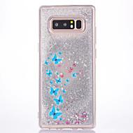 Недорогие Чехлы и кейсы для Galaxy Note-Кейс для Назначение SSamsung Galaxy Движущаяся жидкость С узором Кейс на заднюю панель Бабочка Сияние и блеск Твердый ПК для Note 8 Note