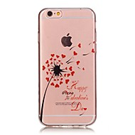 Назначение iPhone X iPhone 8 Чехлы панели Ультратонкий Прозрачный С узором Задняя крышка Кейс для одуванчик Мягкий Термопластик для Apple