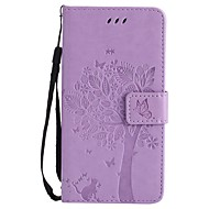 case voor appel ipod touch 5 touch 6 case cover patroon full body case boom en kat hard pu leer