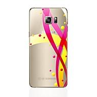 olcso Galaxy S6 Edge Plus tokok-Case Kompatibilitás Samsung Galaxy S8 Plus S8 Átlátszó Minta Fekete tok Vonalak / hullámok Puha TPU mert S8 Plus S8 S7 edge S7 S6 edge