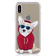 Назначение iPhone X iPhone 8 iPhone 8 Plus Чехлы панели С узором Задняя крышка Кейс для С собакой Мягкий Термопластик для Apple iPhone X