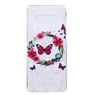 Кейс для Назначение SSamsung Galaxy Note 8 Ультратонкий С узором Задняя крышка Бабочка Цветы Мягкий Термопластик для Note 8 Note 5 Edge