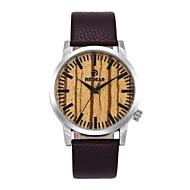 お買い得  -男性用 女性用 ファッションウォッチ 腕時計 ウッド 日本産 クォーツ 木製 本革 バンド チャーム カジュアル ブラウン