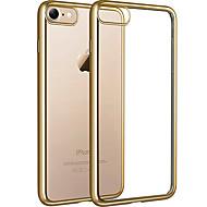 用途 iPhone 8 iPhone 8 Plus ケース カバー メッキ仕上げ クリア バックカバー ケース クリア ソフト TPU のために Apple iPhone  8  Plus iPhone 8 iPhone 7プラス iPhone 7