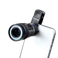 xihama 8x lentille de téléphone portable 8x lentille focale longue en alliage d'aluminium verre abs pour téléphone portable Android