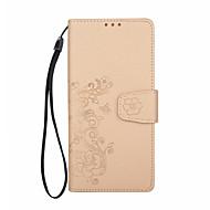 Кейс для Назначение SSamsung Galaxy Note 8 Кошелек Бумажник для карт Флип Рельефный С узором Магнитный Чехол Цветы Твердый Искусственная