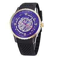 Heren Dames Skeleton horloge Polshorloge mechanische horloges Japans Automatisch opwindmechanisme Kalender Chronograaf Waterbestendig Hol