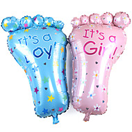 2db / set 79 * 46cm nagy láb baba születésnapi dekoráció háttér elrendezése lábfólia léggömbök