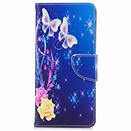 Недорогие Чехлы и кейсы для Galaxy Note-Кейс для Назначение SSamsung Galaxy Note 8 Бумажник для карт Кошелек со стендом Флип Магнитный С узором Чехол Бабочка Твердый Кожа PU для