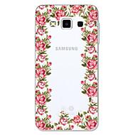 Недорогие Чехлы и кейсы для Galaxy A3(2016)-Кейс для Назначение SSamsung Galaxy A5(2017) A3(2017) Прозрачный С узором Кейс на заднюю панель Цветы Мультипликация Мягкий ТПУ для A3