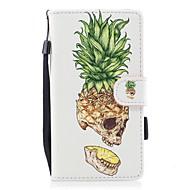 Кейс для Назначение Huawei P10 Lite Кошелек Бумажник для карт со стендом Флип С узором Магнитный Чехол Фрукты Твердый Искусственная кожа