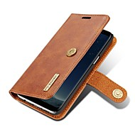 Недорогие Чехлы и кейсы для Galaxy S7-Кейс для Назначение SSamsung Galaxy S8 Plus S8 Кошелек Бумажник для карт Флип Магнитный Чехол Сплошной цвет Твердый Натуральная кожа для
