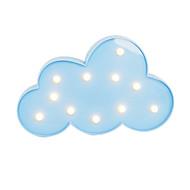 brelong 3d varme hvite barn rom dekorasjon natt lys christmas lys bryllup dekorative lys - skyer