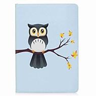 Käyttötarkoitus iPad (2017) kotelot kuoret Korttikotelo Lomapkko Tuella Flip Kuvio Magneetti Kokonaan peittävä Etui Pöllö Kova PU-nahka