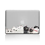 """お買い得  MacBook 用ケース/バッグ/スリーブ-MacBook ケース 猫 PVC のために 新MacBook Pro 15"""" / 新MacBook Pro 13"""" / MacBook Pro 15インチ"""