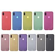 Недорогие Кейсы для iPhone 8 Plus-Кейс для Назначение Apple iPhone X / iPhone 8 Ультратонкий Кейс на заднюю панель Однотонный Твердый ПК для iPhone X / iPhone 8 Pluss / iPhone 8