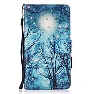 Кейс для Назначение Huawei P10 Lite Кошелек Бумажник для карт со стендом Флип С узором Магнитный Чехол дерево Твердый Искусственная кожа