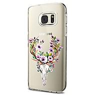 Etui Til Samsung Galaxy S8 Plus S8 Transparent Mønster Bagcover Dyr Blomst Blødt TPU for S8 S8 Plus S7 edge S7 S6 edge plus S6 edge S6 S6