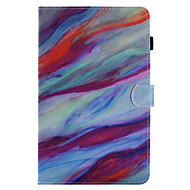 For Case Cover Card Holder Wallet with Stand Flip Pattern Full Body Case Marble Hard PU Leather for Samsung Tab E 9.6 Tab E 8.0 Tab A 9.7