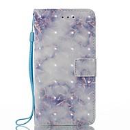 Недорогие Кейсы для iPhone 8 Plus-Кейс для Назначение Apple iPhone X iPhone 8 Бумажник для карт Кошелек со стендом Флип Магнитный С узором Чехол Мрамор Твердый Кожа PU для