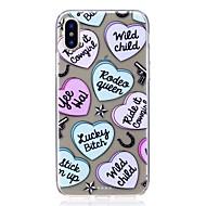 Недорогие Кейсы для iPhone 8-Кейс для Назначение Apple iPhone X iPhone 8 Защита от удара Ультратонкий С узором Задняя крышка С сердцем Мягкий TPU для iPhone X iPhone