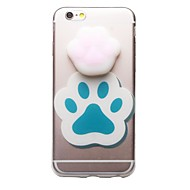 abordables Novedades-Funda Para Apple iPhone 7 Plus iPhone 7 Transparente Diseños Blando Manualidades Funda Trasera Gato Dibujo 3D Suave TPU para iPhone 7