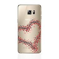 voordelige Galaxy S6 Edge Plus Hoesjes / covers-hoesje Voor Samsung Galaxy S8 Plus S8 Transparant Patroon Achterkant Hart Zacht TPU voor S8 Plus S8 S7 edge S7 S6 edge plus S6 edge S6 S5