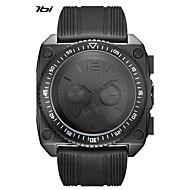 Недорогие Фирменные часы-SINOBI Муж. Спортивные часы Армейские часы Японский Кварцевый 30 m Ударопрочный Cool Крупный циферблат силиконовый Группа Аналоговый Черный - Черный