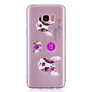 voordelige Galaxy S5 Hoesjes / covers-hoesje Voor S8 Plus S8 Transparant Patroon Achterkantje Hond Zacht TPU voor S8 S8 Plus S7 edge S7 S6 edge S6 S5